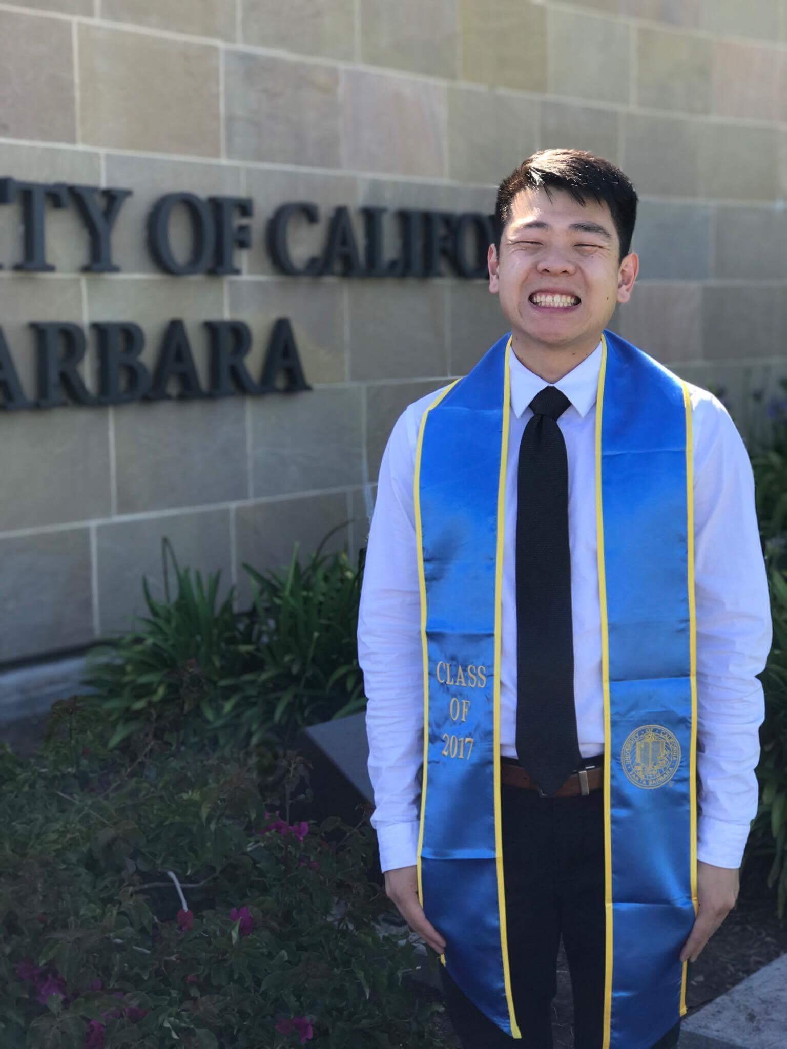 Mr. Tan graduating from UCSB