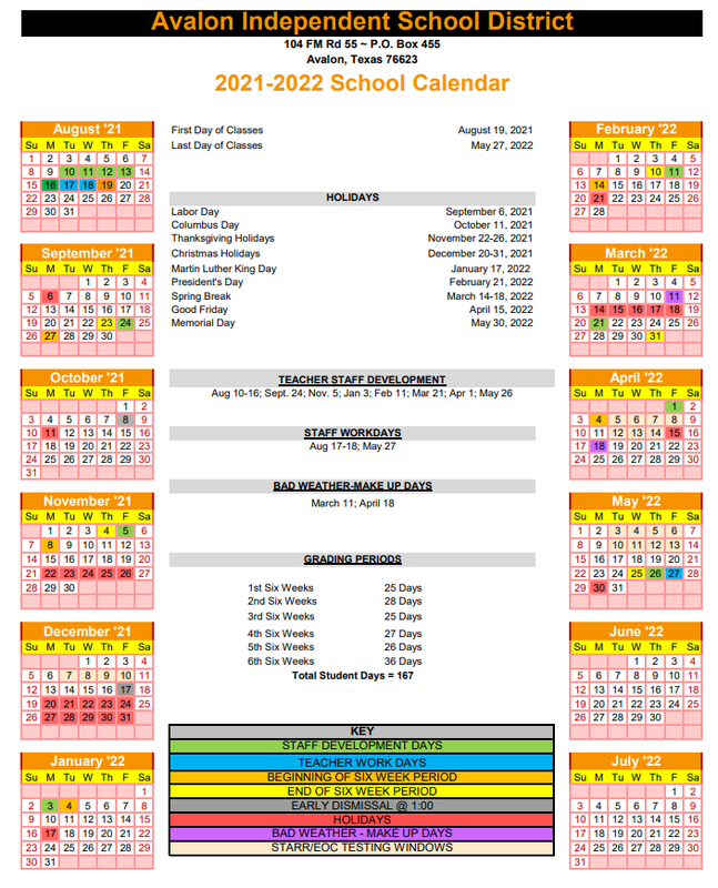 2021-2022 District School Calendar Available! Featured Photo