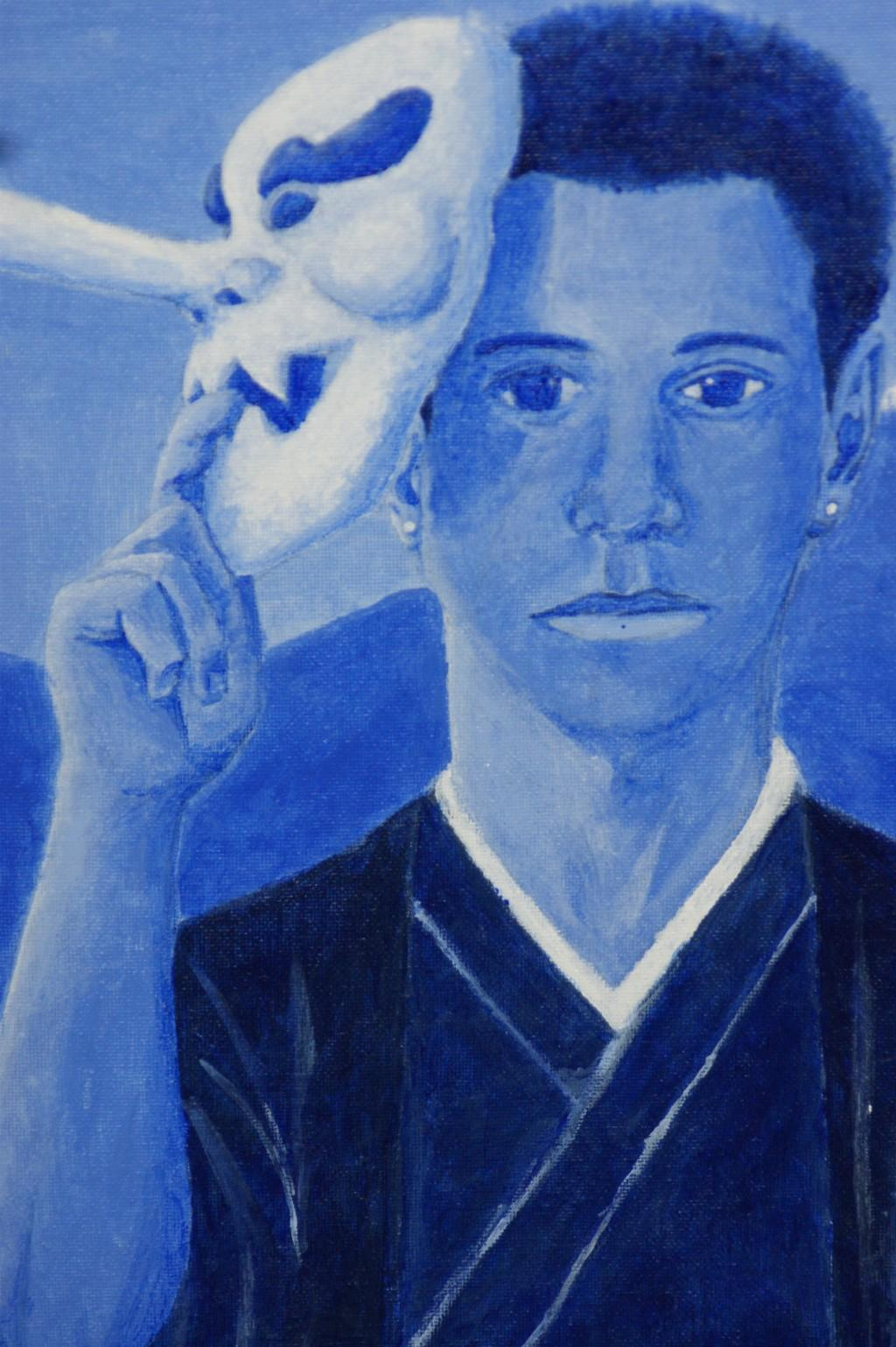 Students painting of a teenager