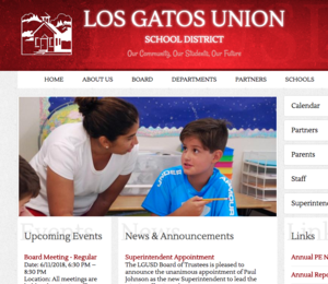 Image of screen shot of LGUSD web site front page