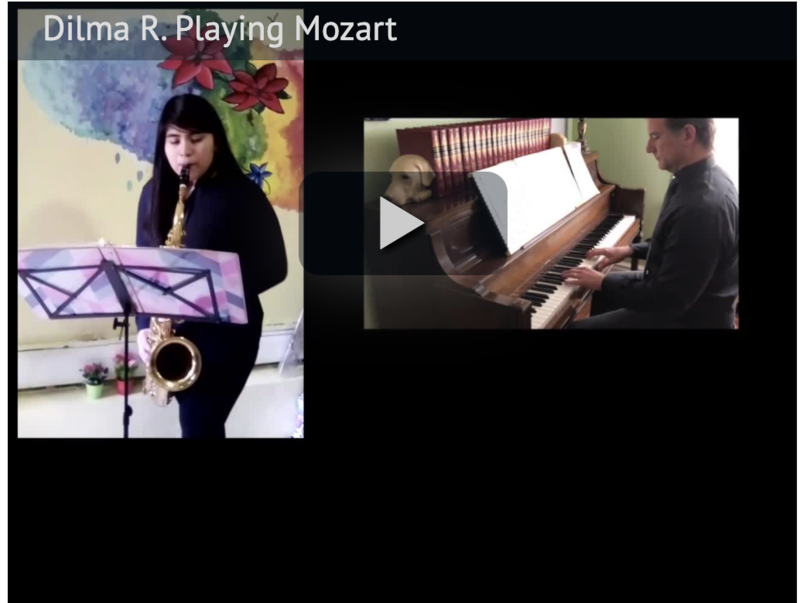 Dilma playing Mozart Video