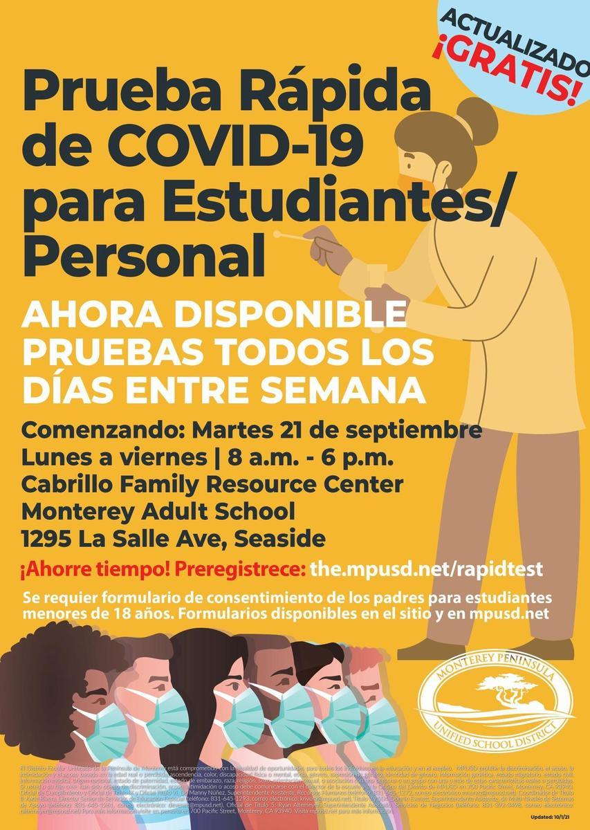 COVID Rapid Test Spanish Updated