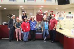 The DVMS Office Staff in the holiday spirit