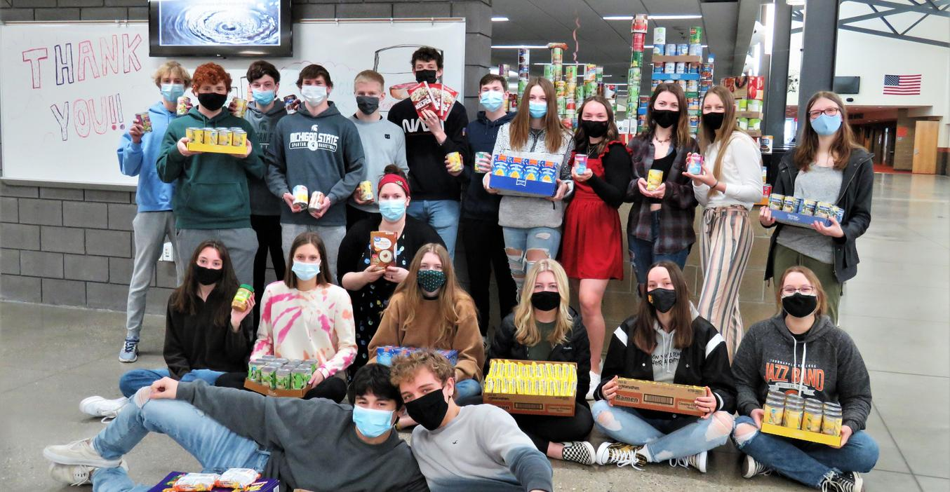 TKHS students conducted a food drive for Barry County United  Way programs.