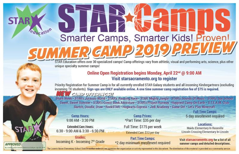 picture of logo for Star Summer Camps