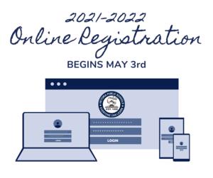 2021-2022 online registration