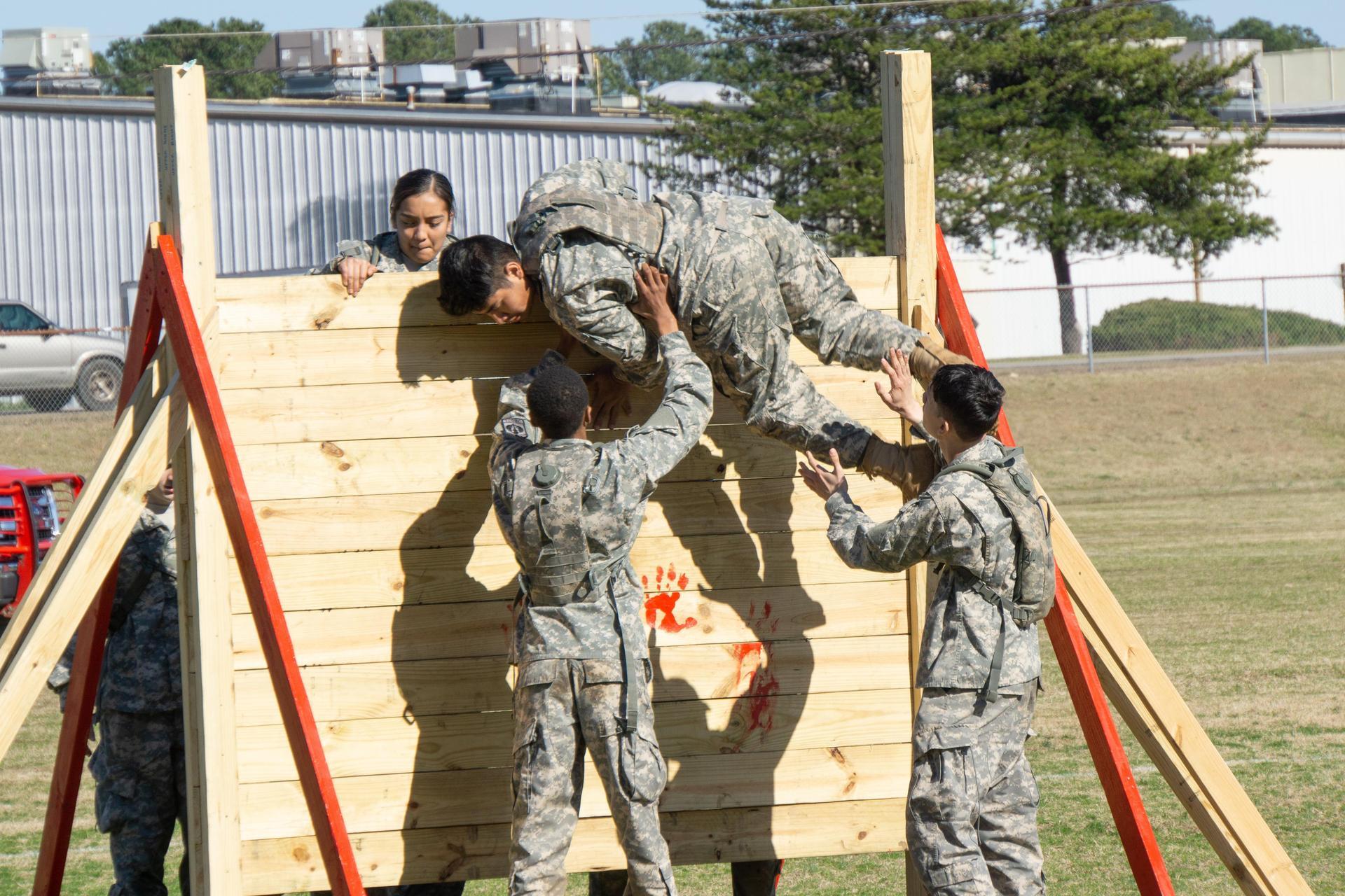 Bulldog JROTC Raider Team Wall Climb