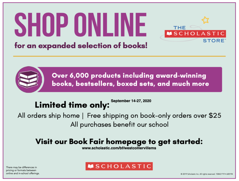WCMS Virtual Book Fair happening September 14-27! Featured Photo