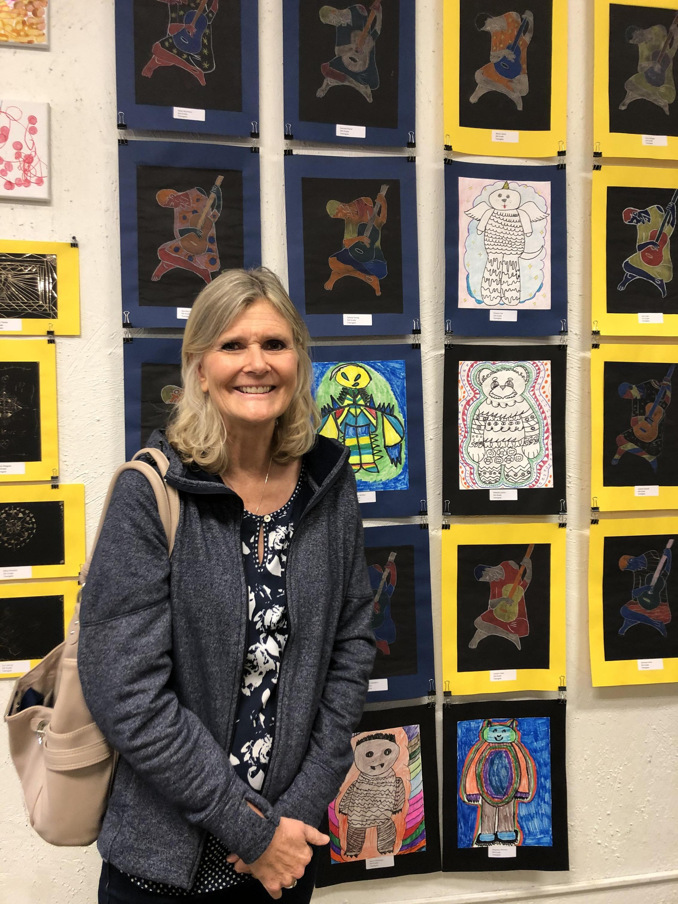 District Staff Member at the art show