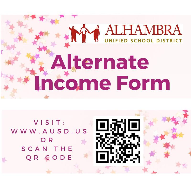 Alternate Income Form (PARENTS: PLEASE CLICK ON HEADLINE & COMPLETE!) Featured Photo