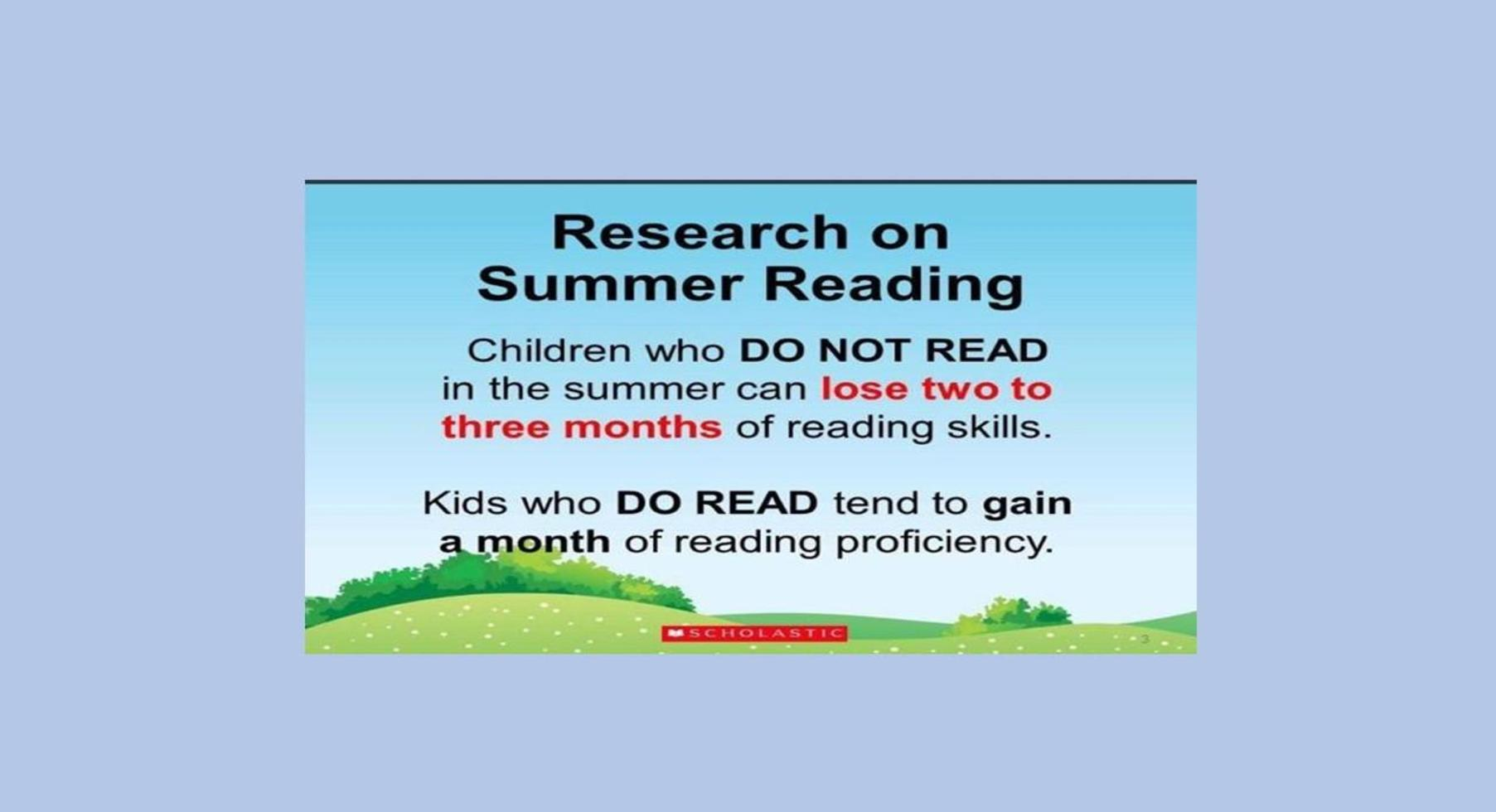 Summer Reading Research