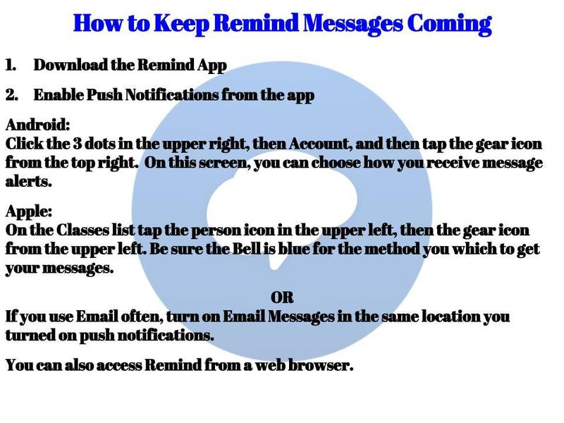 How to Continue to Receive Messages from Remind Thumbnail Image