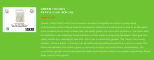Green Thumbs Ferris 2020 Finalist-Sustainability Challenge