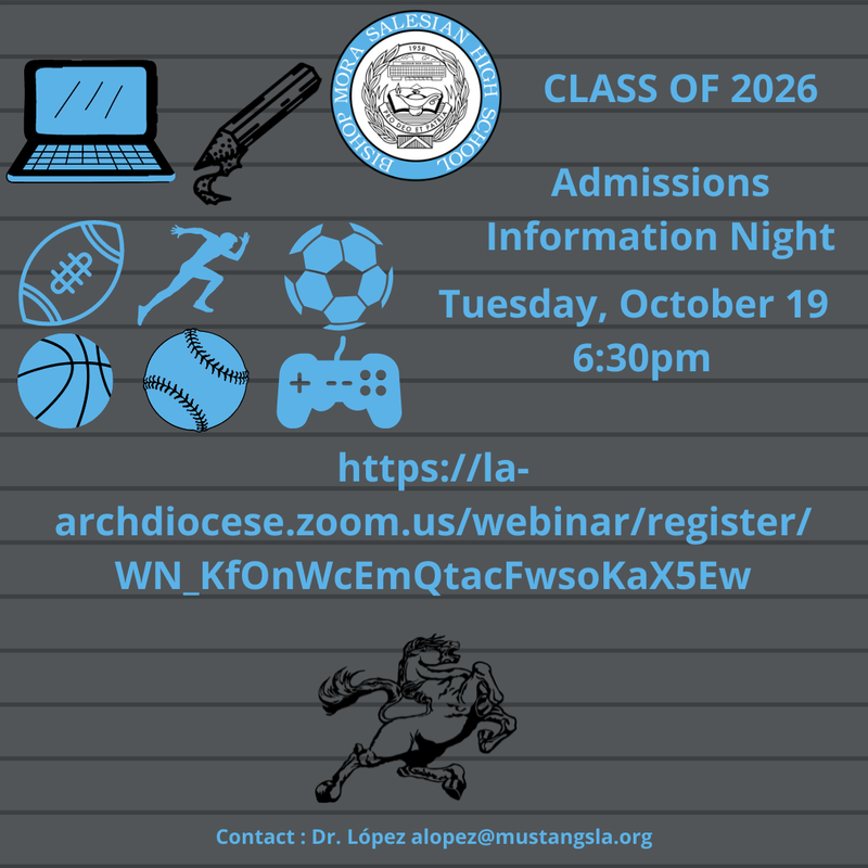 Prospective Student Admissions Information Night-October 19th at 6:30p Featured Photo