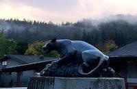 Cougar Statue in quad