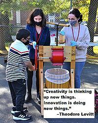 """Creativity is thinking up new things. Innovation is doing new things."" – Theodore Levitt"