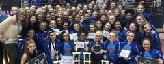 The Brewer High School Honeycomb Drill Team won numerous awards at the Danceline USA State Classic Competition on Feb. 23.