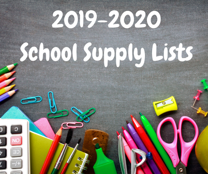 School Supply Lists for 2019-2020 Thumbnail Image