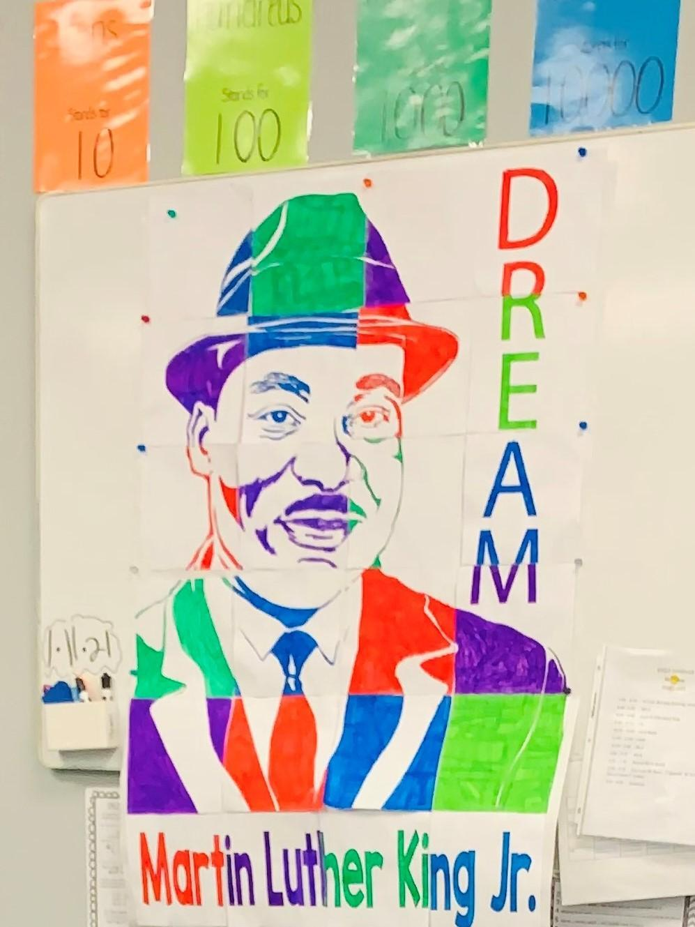 MLK poster created by 4th grade