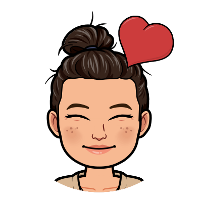 Bitmoji of Ms. DuPonte with heart