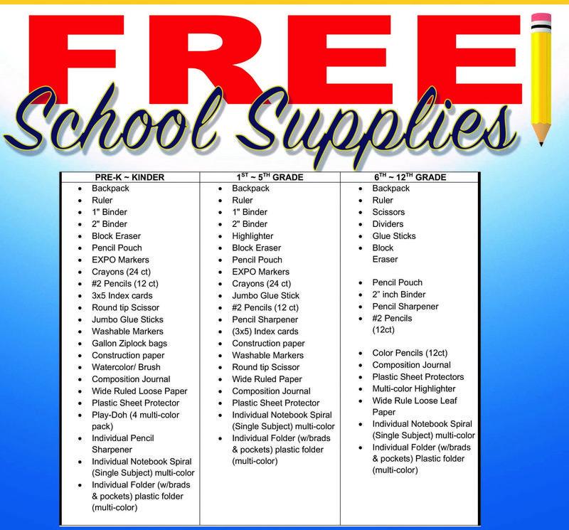 FREE SCHOOL SUPPLIES! / GRATIS: MOCHILAS CON UTILES ESCOLARES! Featured Photo