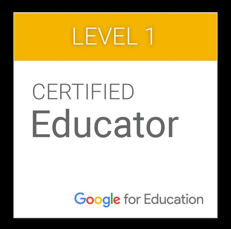 Level 1 Google Certified Educator