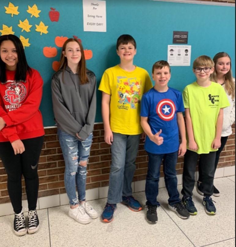 Photo of October attendance winners