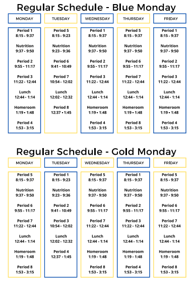 NEW Student Schedule Featured Photo