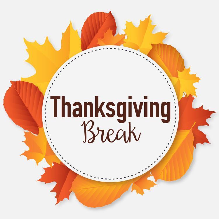 THANKSGIVING BREAK - SCHOOL/OFFICE CLOSED Thumbnail Image