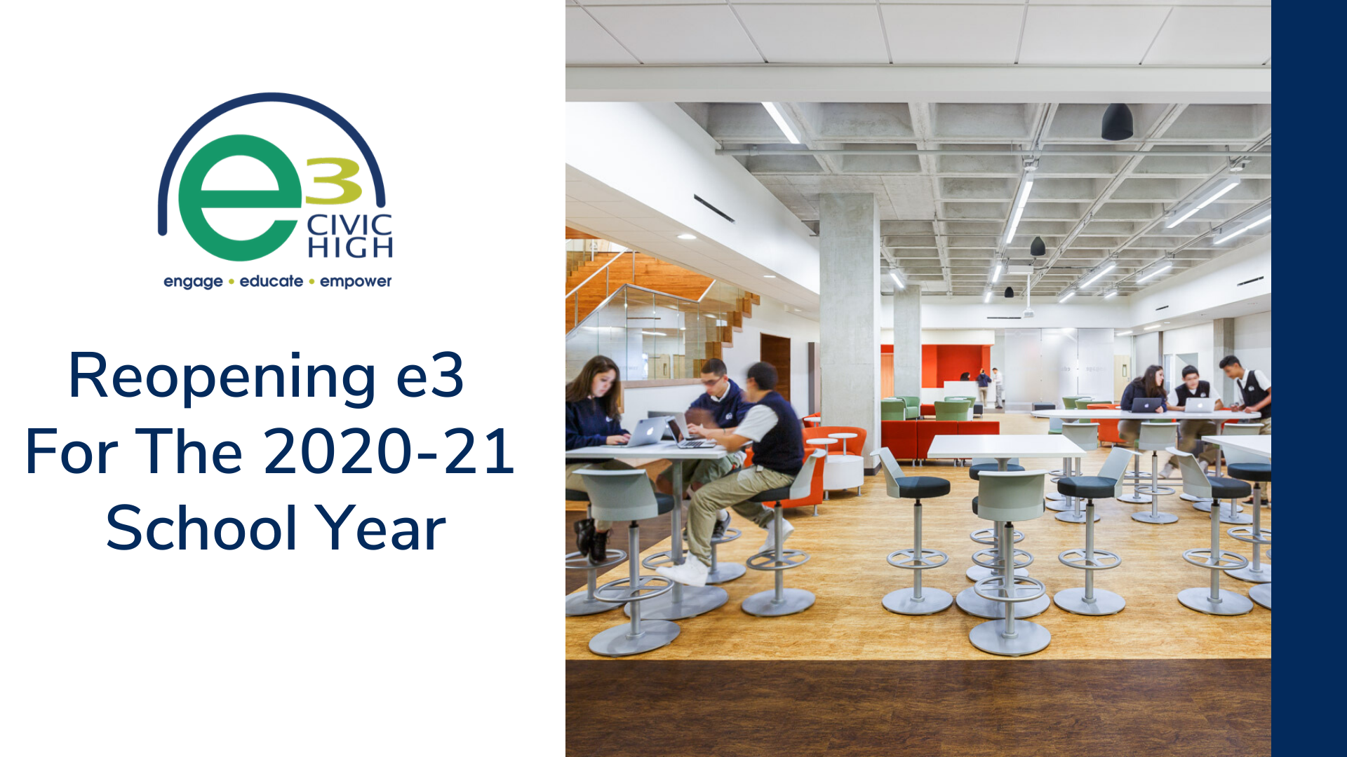 Reopening e3 for the 2020-21 School Year