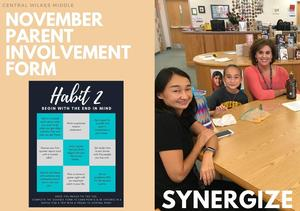November's Parent Involvement Form is Available!