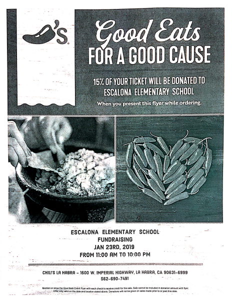 Good Eats Escalona Elementary Fundraiser Featured Photo