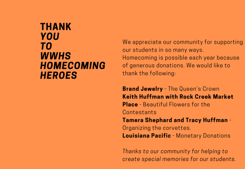 Thank you to our Homecoming donors Thumbnail Image