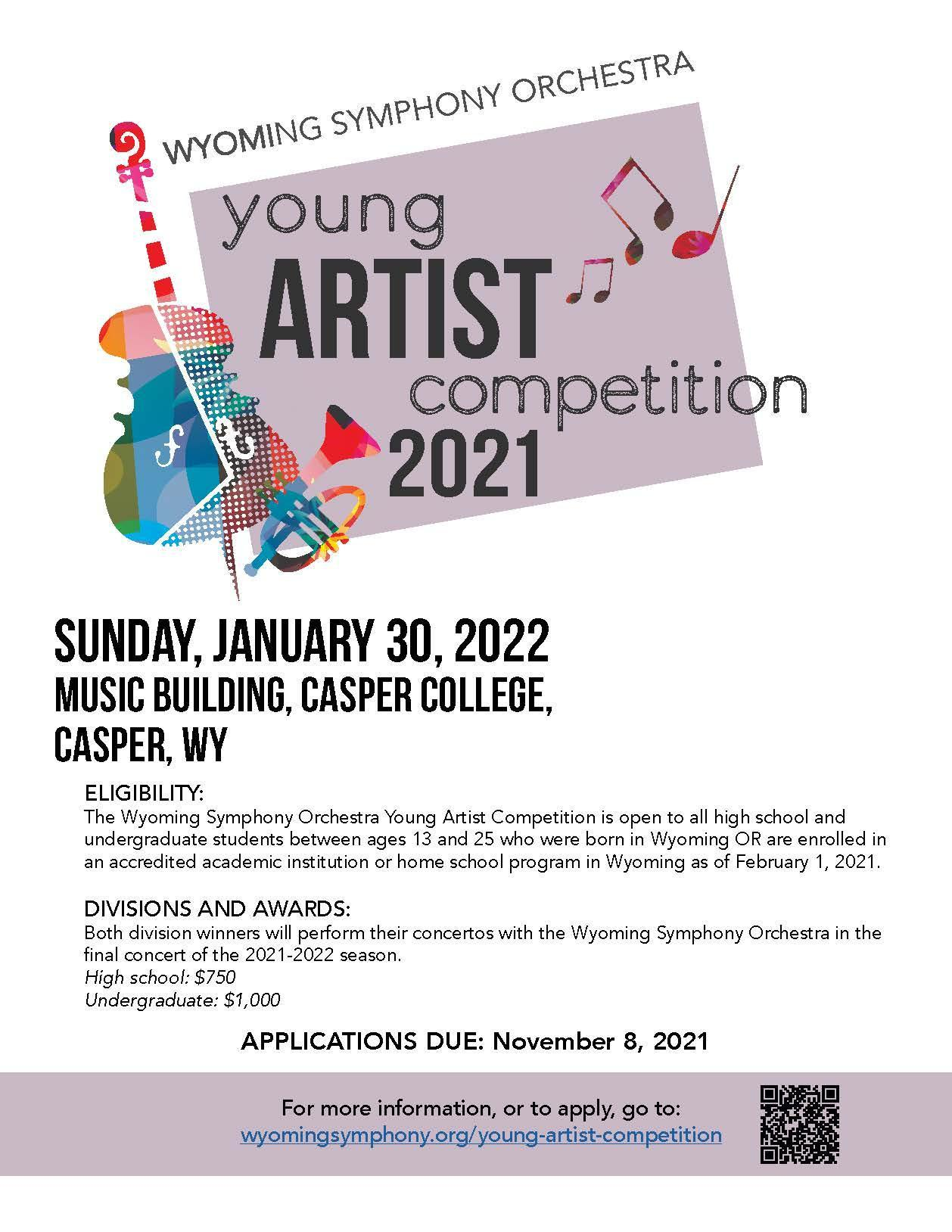 Wyoming Symphony Orchestra Young Artists Competition flyer