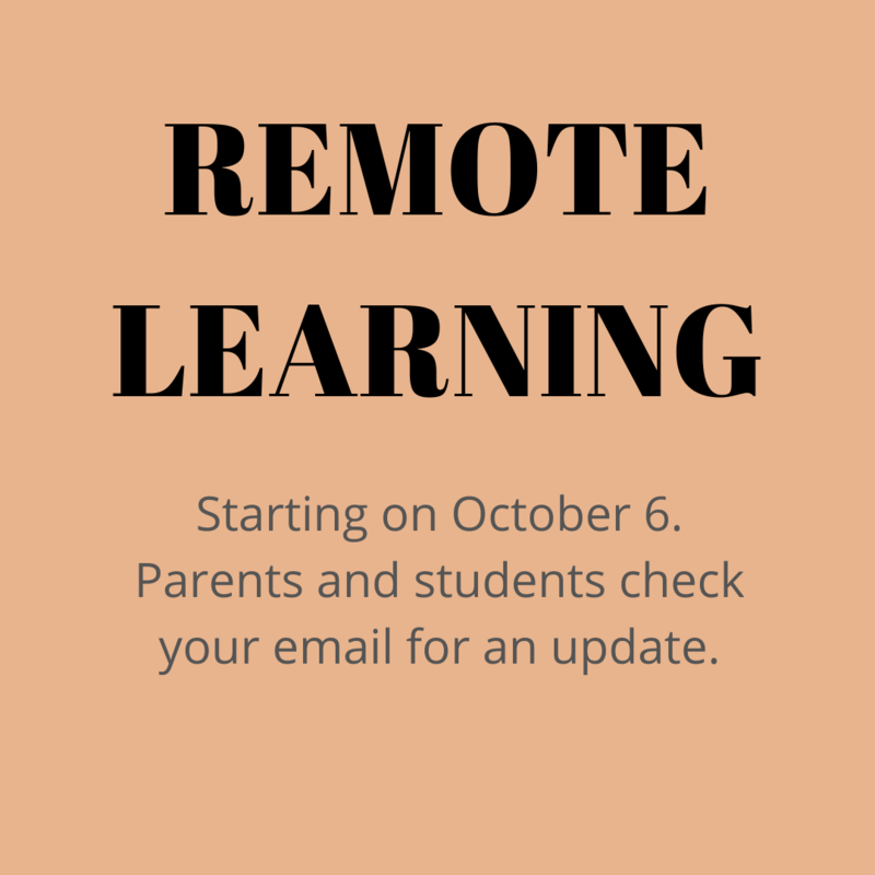 Remote Learning Starting on October 6! Featured Photo