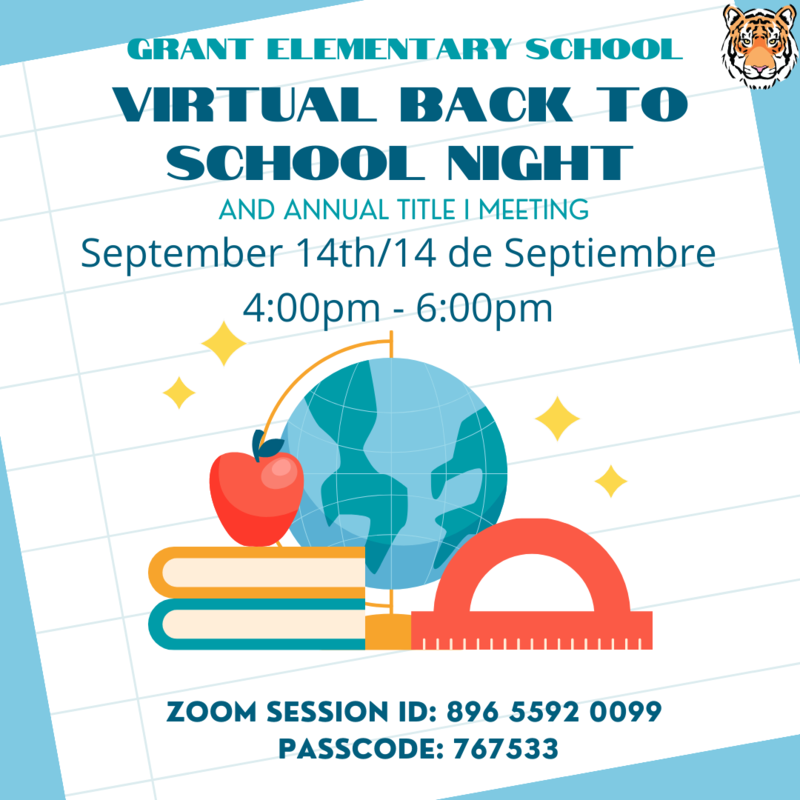 2021 Virtual Back to School Night/ 2021 Noche de Regreso a Clases Virtual Featured Photo