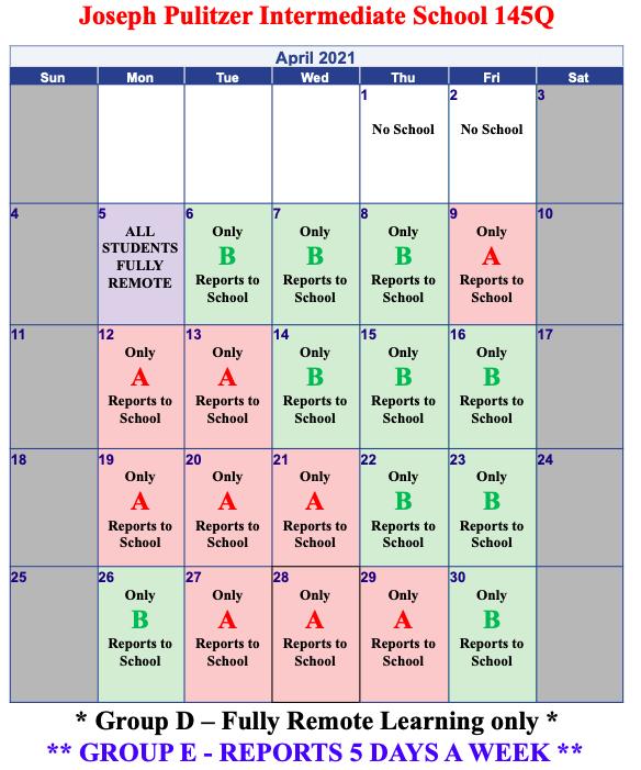 April's Calendar