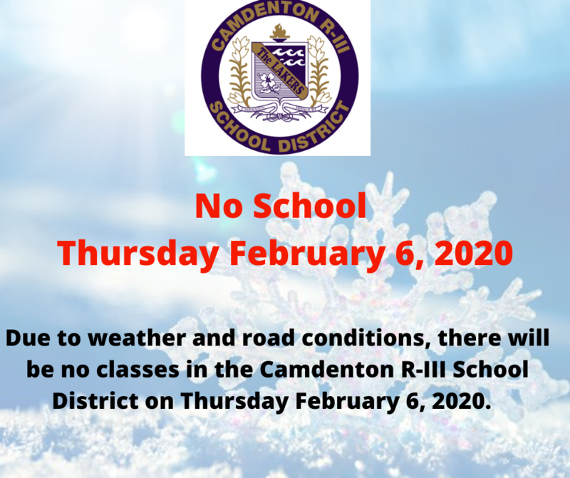 No School -  Thursday February 6, 2020 Featured Photo