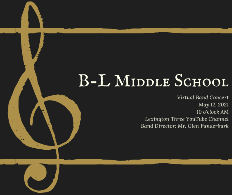 Virtual BLMS Band Concert Scheduled for May 12th