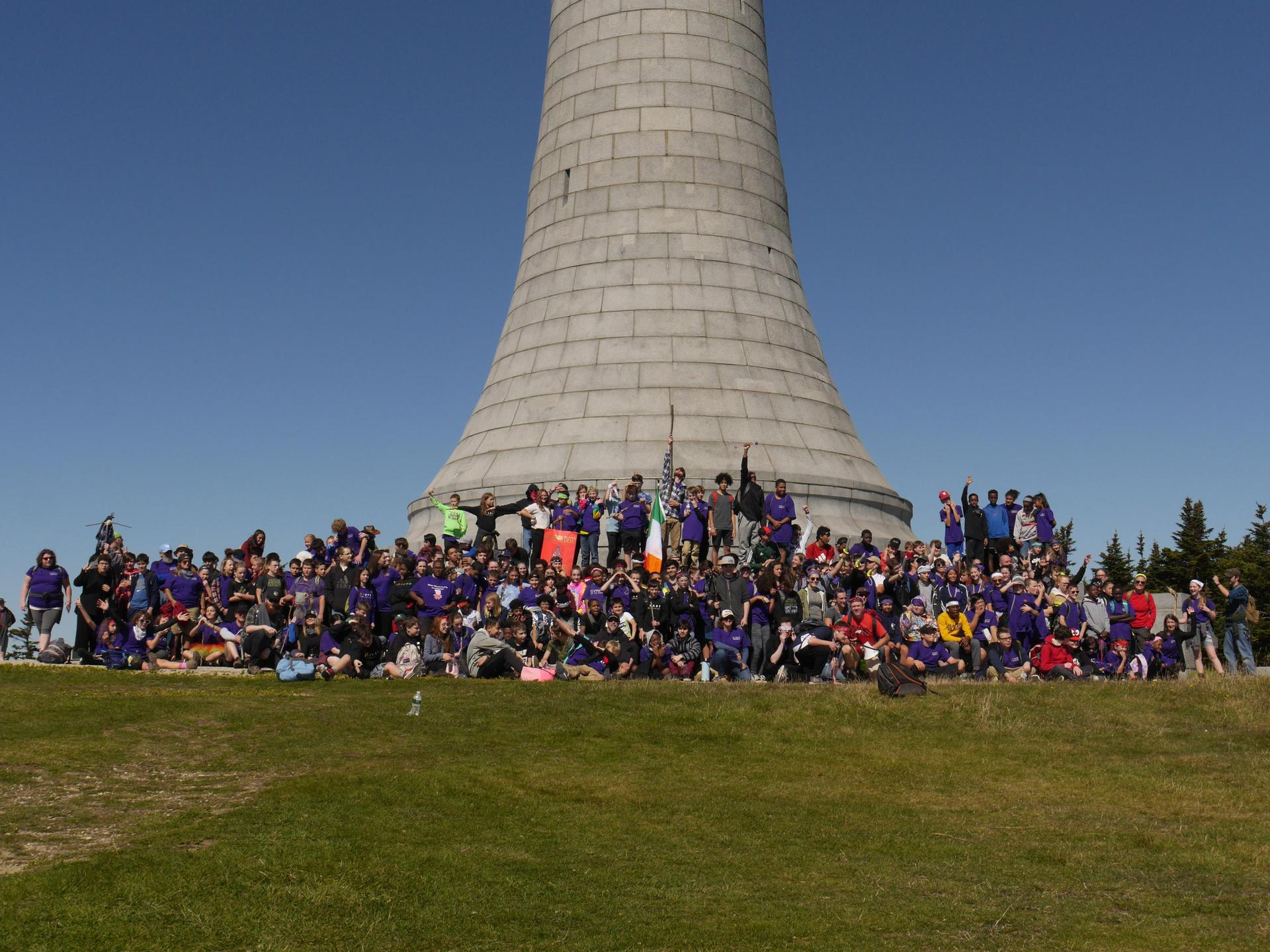 BART Students and Staff at the top of Mt. Greylock
