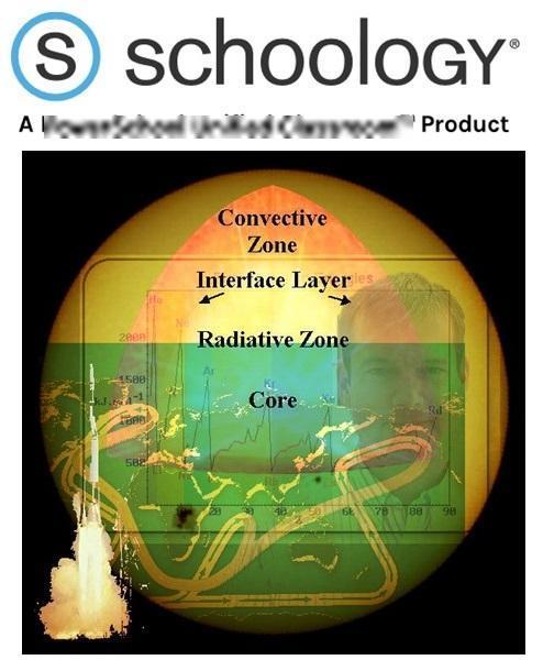 Schoology logo and Pratt's Schoology avatar
