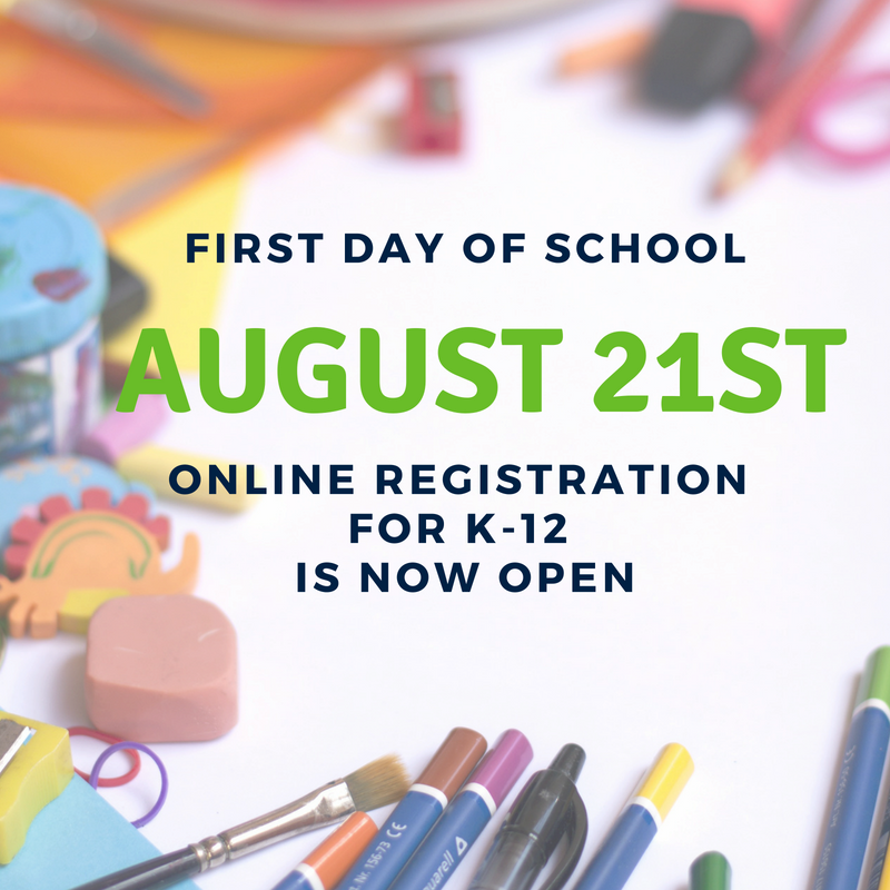 First Day of School is August 21st Thumbnail Image