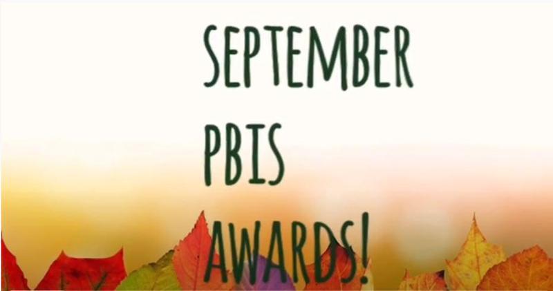 Sept PBIS Awards