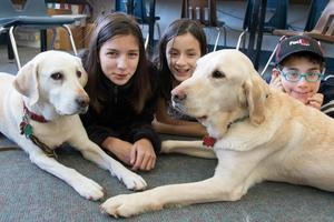 CHS Students with Therapy Dogs