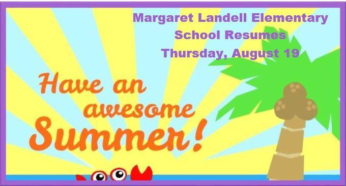 Students Return to School Thursday, August 19! Thumbnail Image