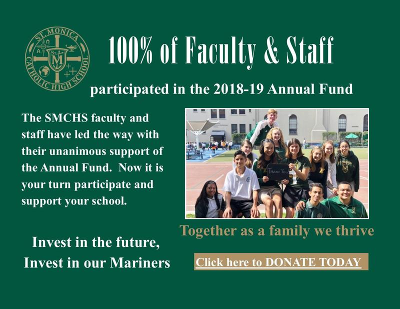 Thank you SMCHS Faculty and Staff for your unanimous support of the Annual Fund Featured Photo