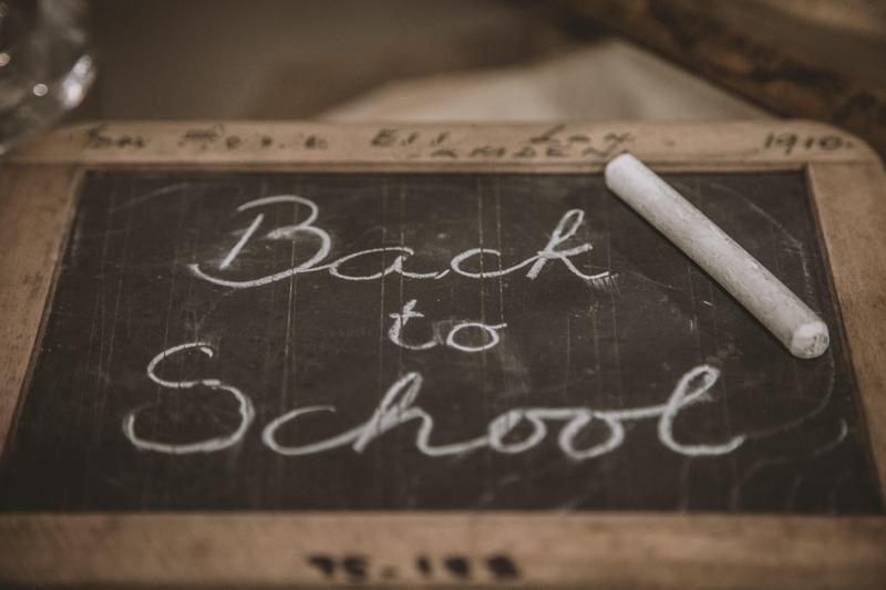Back to School on small Black chalkboard