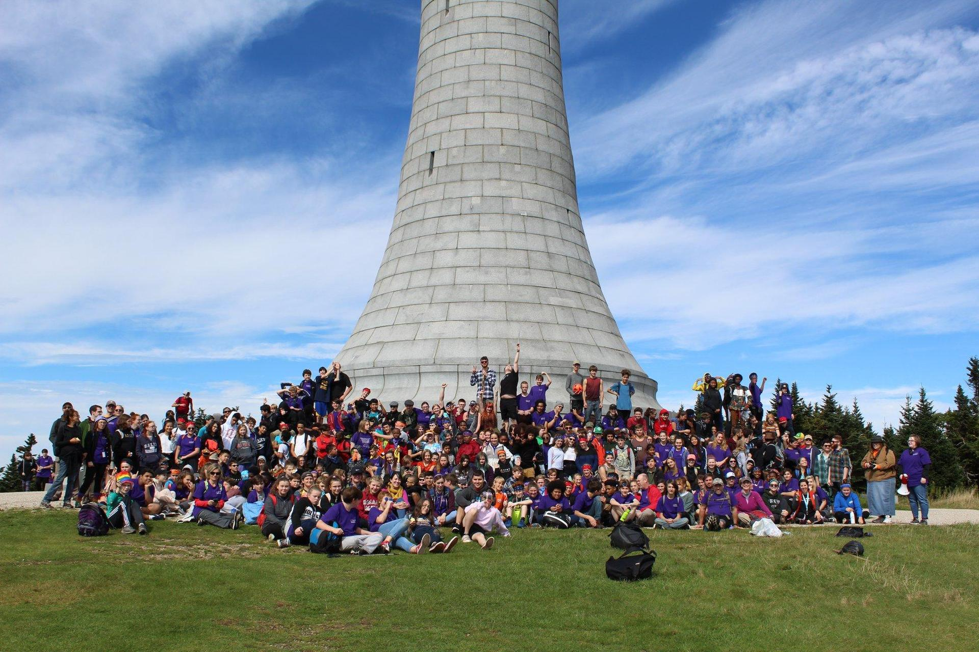 BART students at the top of Mt. Greylock