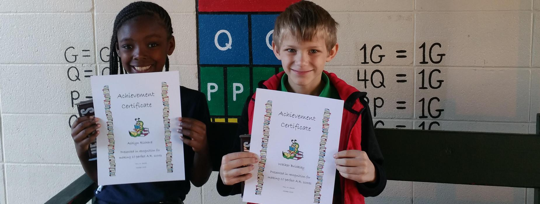 A.R. perfect scores!