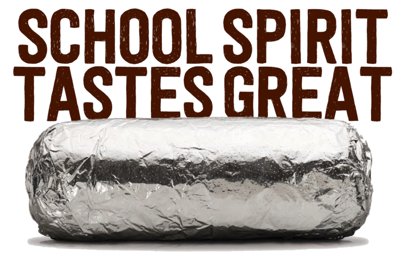 School Spirit Chipotle Burrito